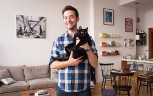 Alexis Ohanian and his cat