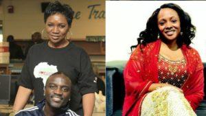Akon with wife