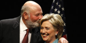 Rob Reiner and Hillary Clinton